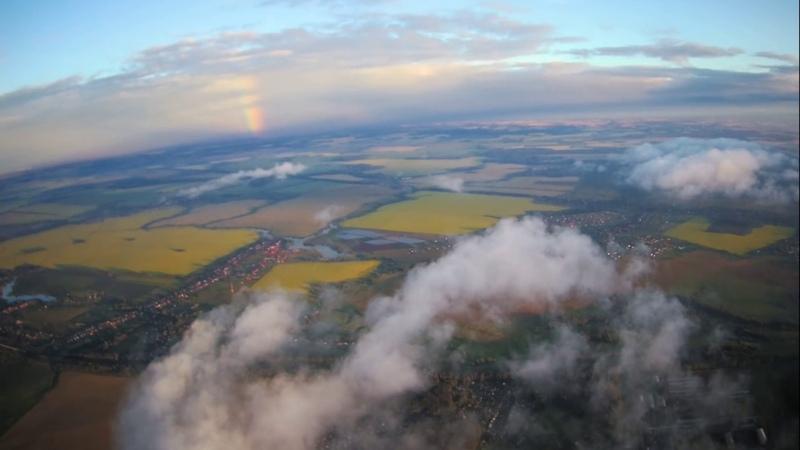 квадрокоптер hubsan H501SS над облаками 800м
