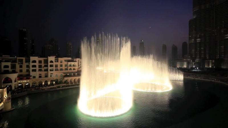 Dubai Fountain - Time to Say Goodbye - Andrea Bocelli and Sarah Brightman