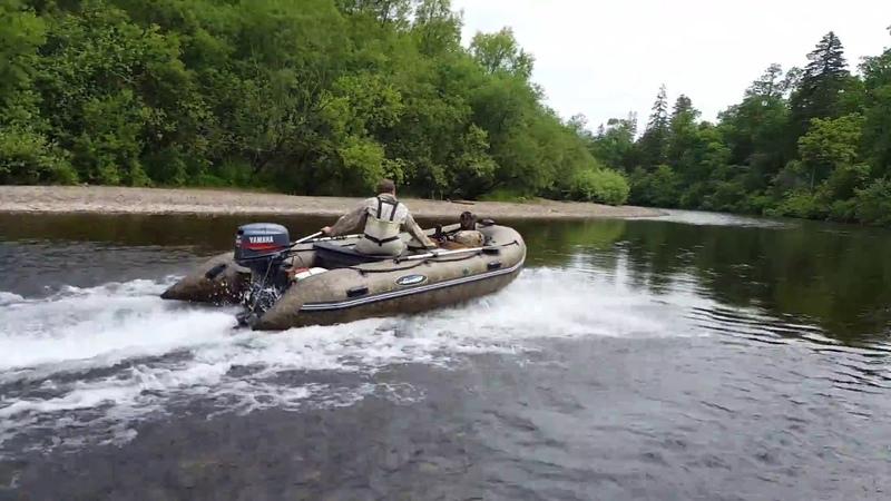 Надувная лодка Gladiator E420, прохождение переката