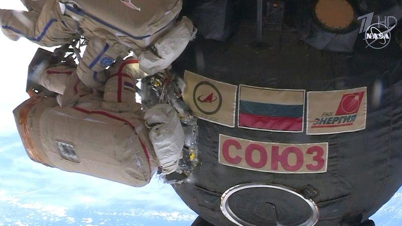 Уникальная операция воткрытом космосе продолжаласьпочти восемь часов. Новости. Первый канал