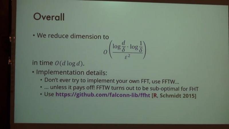 Lecture 8   Recent Advances in Algorithms   Ilya Razenshteyn