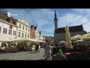 Estonia Travel Tallinn Viru Gate Walls Middle Age Town Hall Square