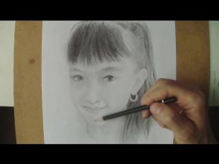 Как нарисовать лицо девочки карандашом