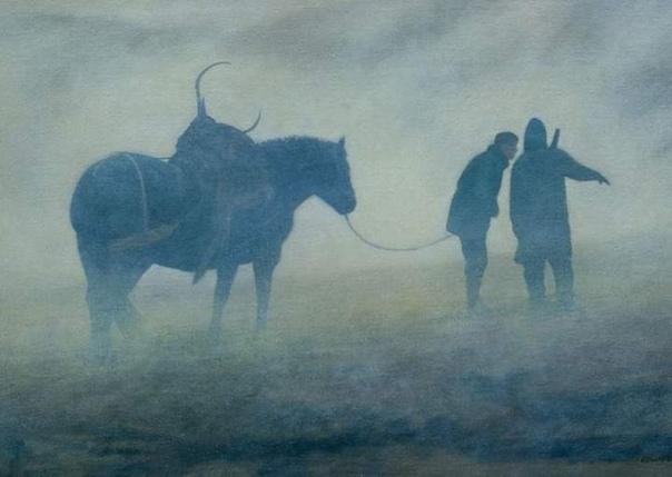 Белый лес Марка Эдвардса. Английский художник прокомментировал, что «было бы слишком грандиозно предполагать, что мои картины являются метафорой изоляции, которую мы все время от времени,