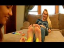 Gianna Vee and Tori's Hold the Dollar Foot Tickle Challenge