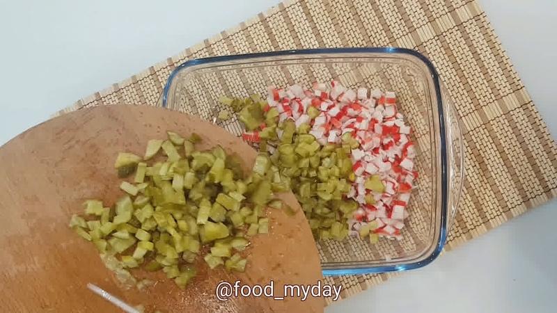 Обед • Крабовый салат из 90 х