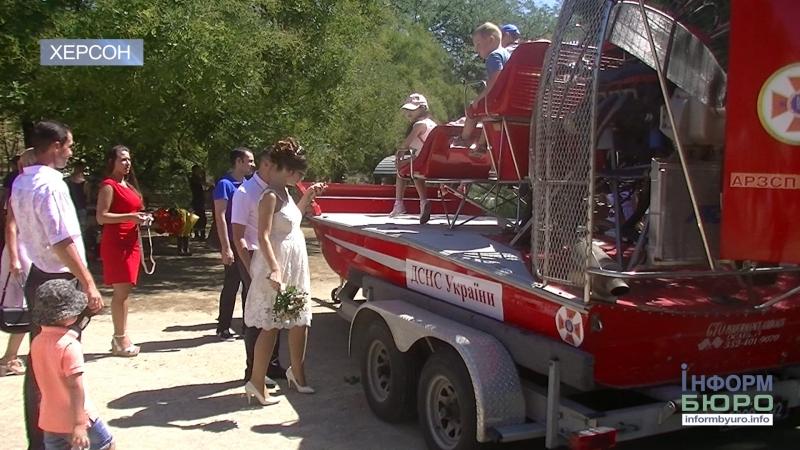 Херсонські рятувальники знайомили дітей зі своєю професією