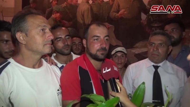 متحديا إصابته النقيب علي يصل دمشق قاطعا مسافة 240 كم