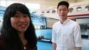 Touring the aircraft hangar on campus - Student Vlogger Ira