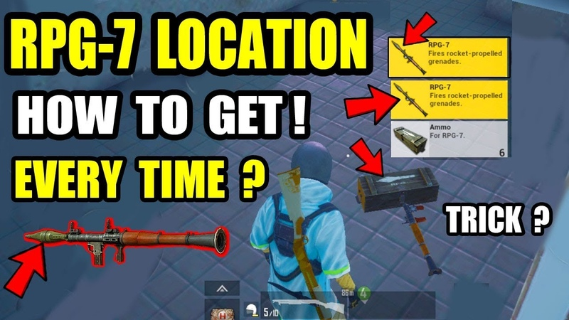 RPG 7 TOP 3 SECRET LOCATION IN PUBG MOBILE ! HOW TO GET RPG 7 Rocket Launcher ?