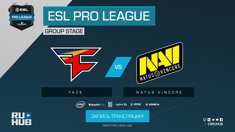 FaZe vs Na`Vi - ESL Pro League S7 Finals - map1 - de_mirage [ceh9, CrystalMay]