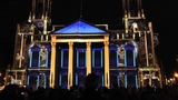 'Momentus' Projection on Leeds Civic Hall for 'Light Night 2013', West Yorks, UK - 4th October, 2013