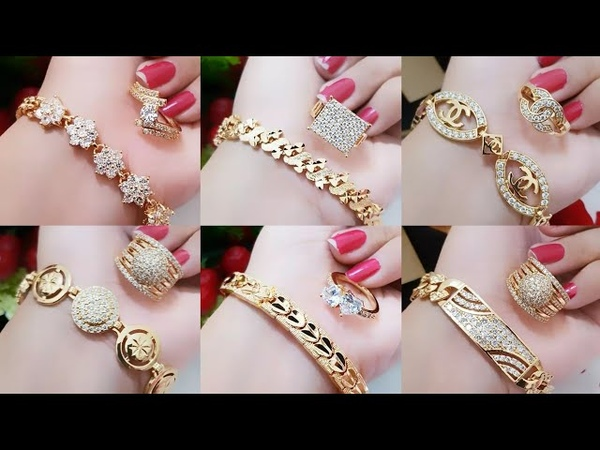 Gold Bracelets And Gold Rings Combo Sets | Todays Fashionable Jewelry
