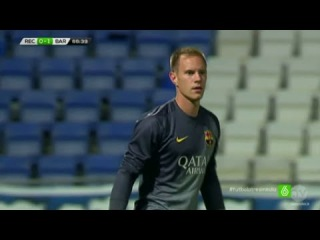 Marc-Andre ter Stegen vs Recreativo Huelva (Debut For Barcelona) Pre Season 2014-2015 HD 720p