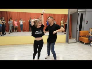 Salsa cubana (casino) intermediate. stanislav shvetsov & natalia nebogatikova