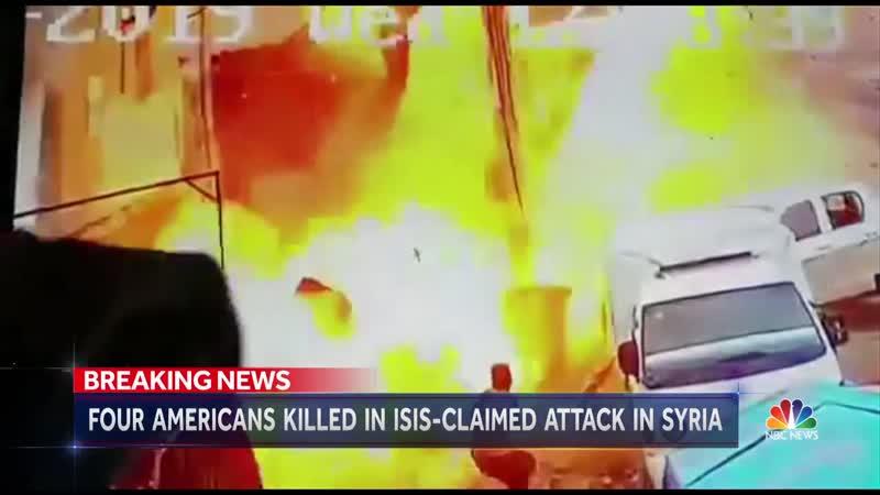 Репортаж NBC о взрыве 16 января 2019 в Манбидже