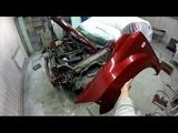 Dodge Caliber часть 12. Как снять бампер, фары, крылья. Body repair.