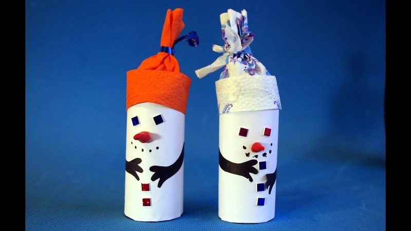 Снеговики Новогодние украшения для дома своими руками Зимние поделки новый год 2019 из бумаги