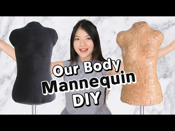 DIY Our Body Shape Mannequin / Dress Form! Draping Directly, Using Duct Tape Fabric, Custom
