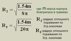 Расчет поражающих возможностей осколочных мин и гранат, изображение №6