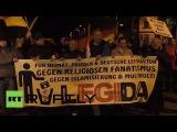 Митинг сторонников движения #PEGIDA в Лейпциге 21.01.15