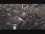 Появилось снятое с беспилотника видео тушения пожара в Капотне