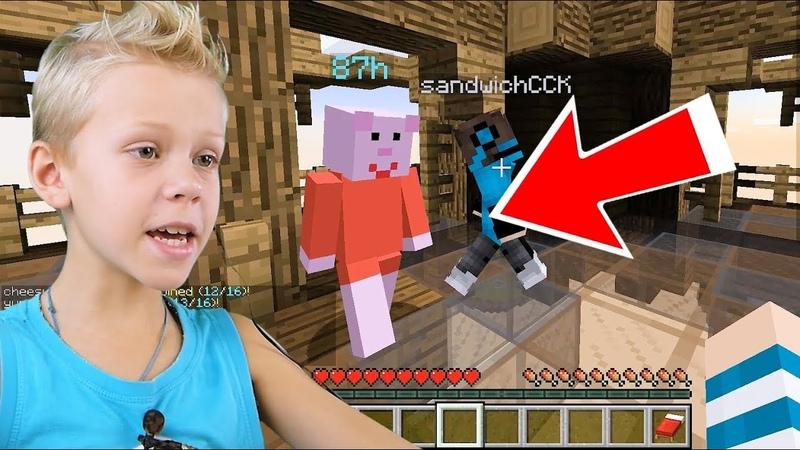 Свинка Пеппа играет в Minecraft? Бед Варс Майнкрафт Про или Нубик?