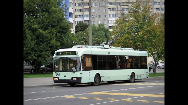 Поездка на троллейбусе БКМ-321,борт.№ 5515 (19.05.2016)