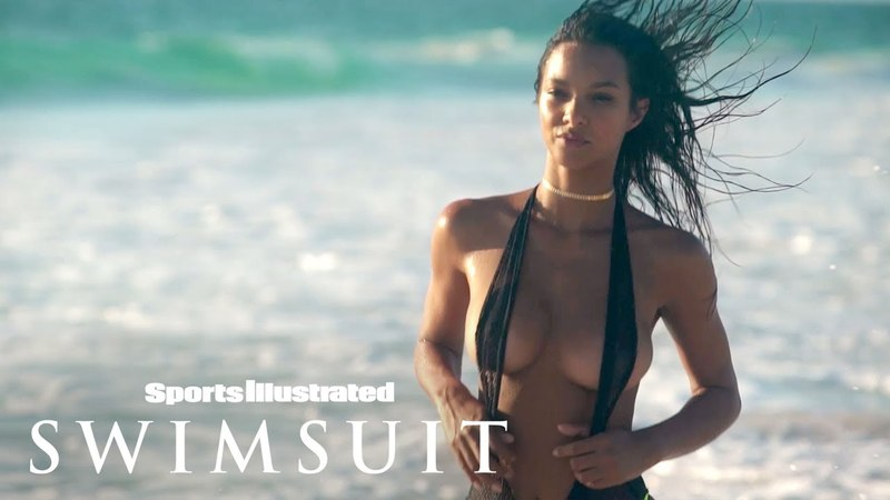Lais Ribeiro Channels 'Baywatch', Gets A Wet Workout | Candids | Sports Illustrated Swimsuit