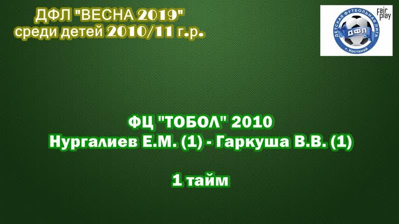 ФЦ ТОБОЛ 2010 (Нургалиев Е.М.) - ФЦ ТОБОЛ 2010 (Гаркуша В.В.)