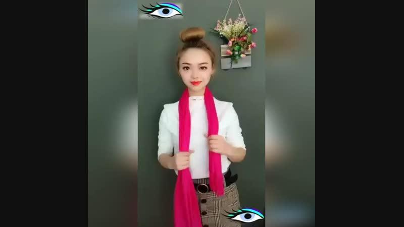 ☀️Как красиво завязать платок ☀️