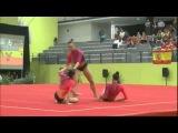 Выступление тройки. Акробатика EUROACRO 2013 WG SEN POR Balance - Barbara Sequeira/Leonor Piqueiro/Daniela Leal