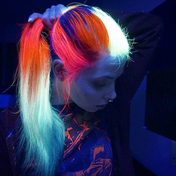 Флуоресцентная краска для волос -