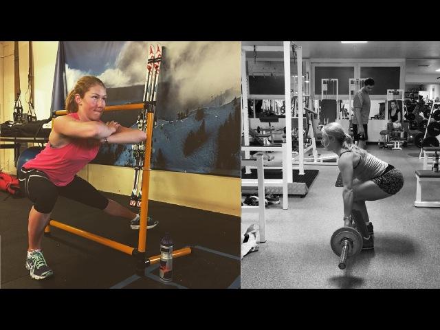 Mikaela Shiffrin training