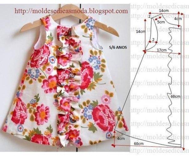Шьем красивое платье для девочки.. (5 фото) - картинка