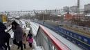 Встреча ЭД4М и ЧС7 с поездом Кривой Рог - Москва