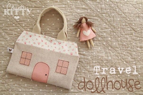 Сумка-домик для куклы. Идея для вдохновения…. (9 фото) - картинка