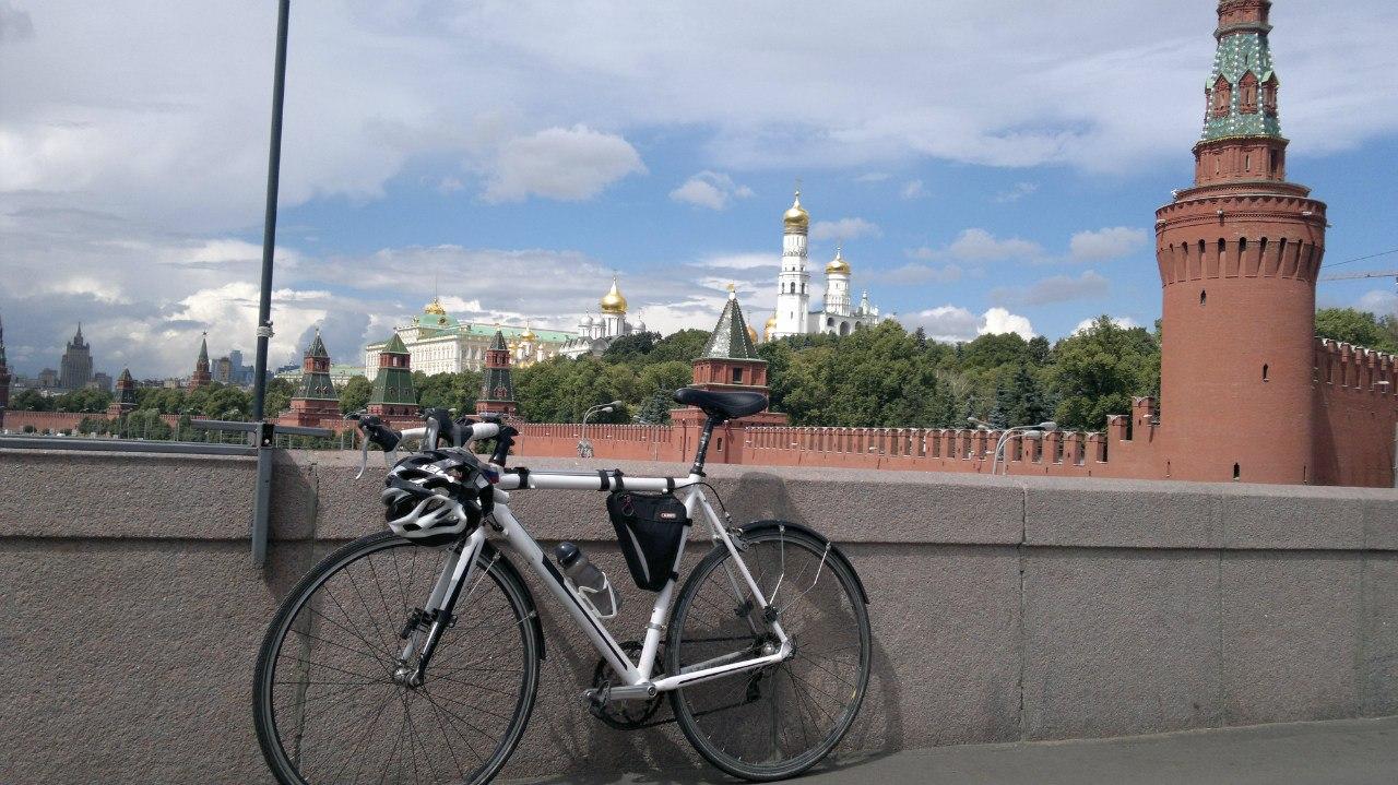 Томич совершил путешествие на велосипеде до Бородино за 18 дней (фото)