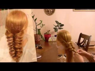 Коса с помощью резинок - 4 (Объёмная)