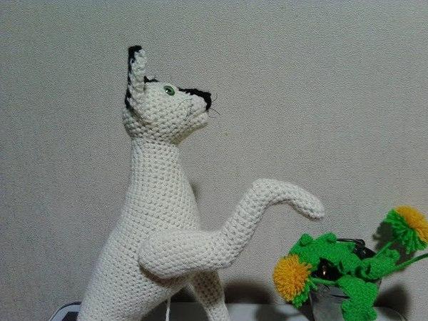 Кот Девон рекс, ч.3. Devon Rex Cat, р.3. Amigurumi. Crochet. Амигуруми. Игрушки крючком.