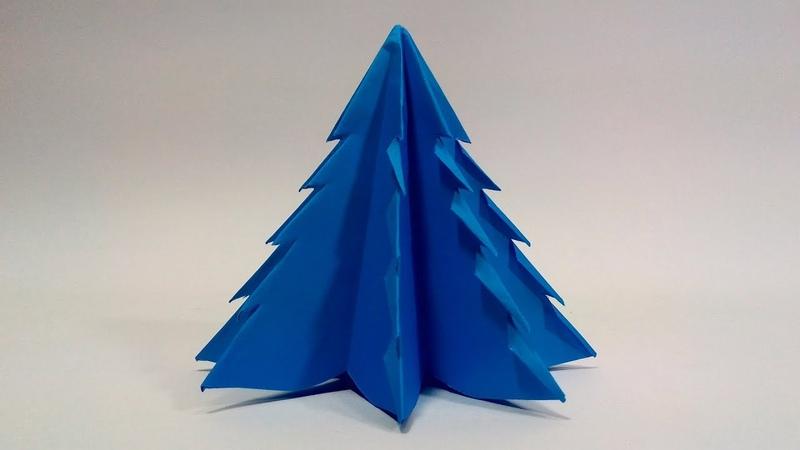 Christmas Tree With Paper Origami Christmas Tree Tutorial