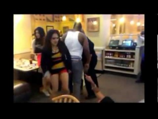 Fight girls Mexico Asian KO Girls Brawl Down town