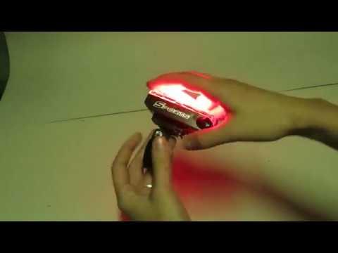 Обзор заднего велофонаря с лазерами Nelk