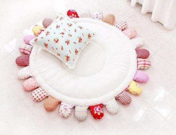 Шьём симпатичный коврик для ребёнка (5 фото) - картинка
