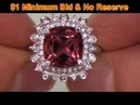 Rubellite Tourmaline Diamond Cocktail Ring Very Rare One Of A Kind Estate Ring