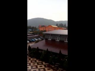 долгожданный дождь в Лермонтовопри жаре 36!!