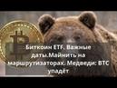 Биткоин ETF Важные даты Майнить на маршрутизаторах Медведи BTC упадёт