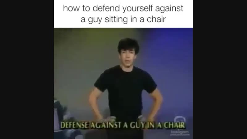 Against sitting in a chair