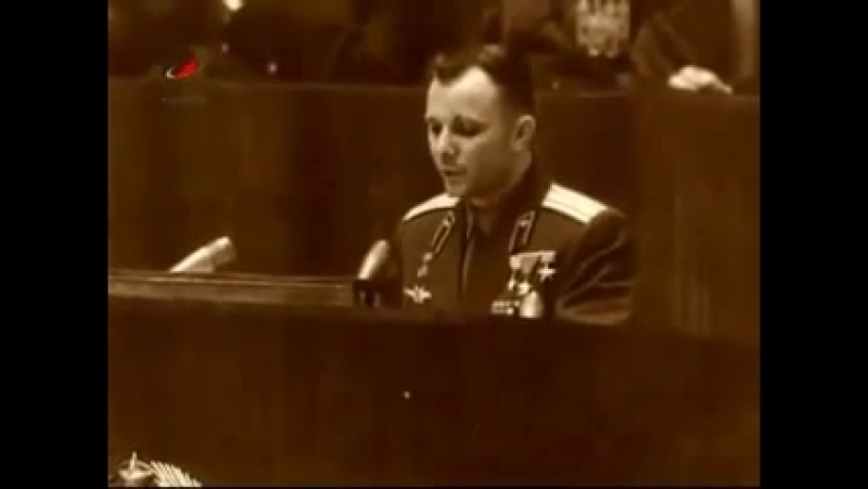 Ю. А. Гагарин о Храме Христа Спасителя
