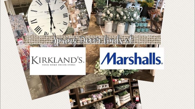 Spring Decor Finds at Kirklands and Marshalls Shop With Me